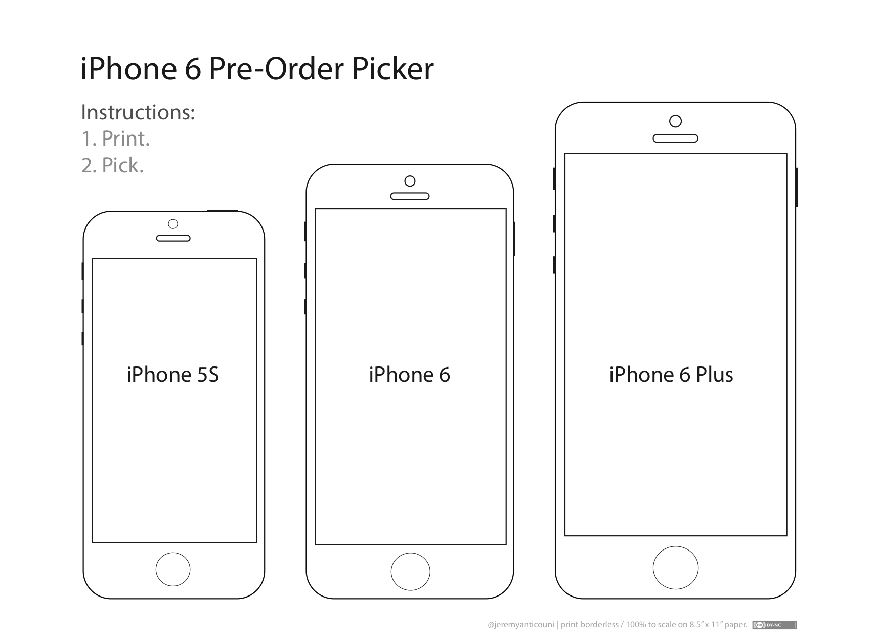 These Templates Will Help You Decide Which IPhone 6 Size Is Right