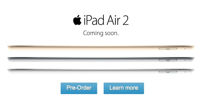 ATT iPad Air 2 preorders