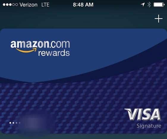 Amazon Visa Rewards card in Apple Pay