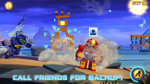 Angry Birds Transformers 1.0 for iOS (iPhone screenshot 004)