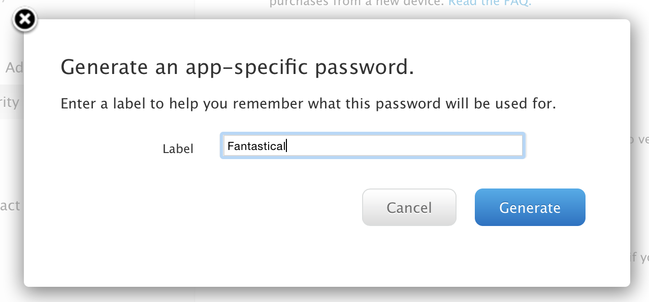 App Specific Password 1