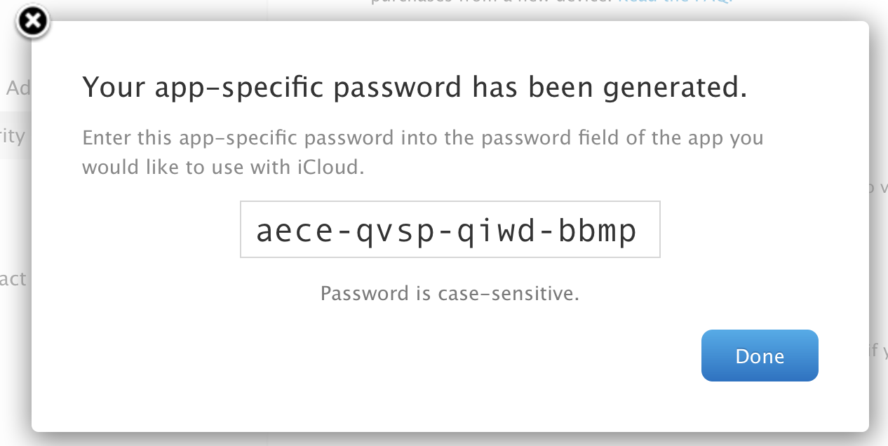 App Specific Password 2