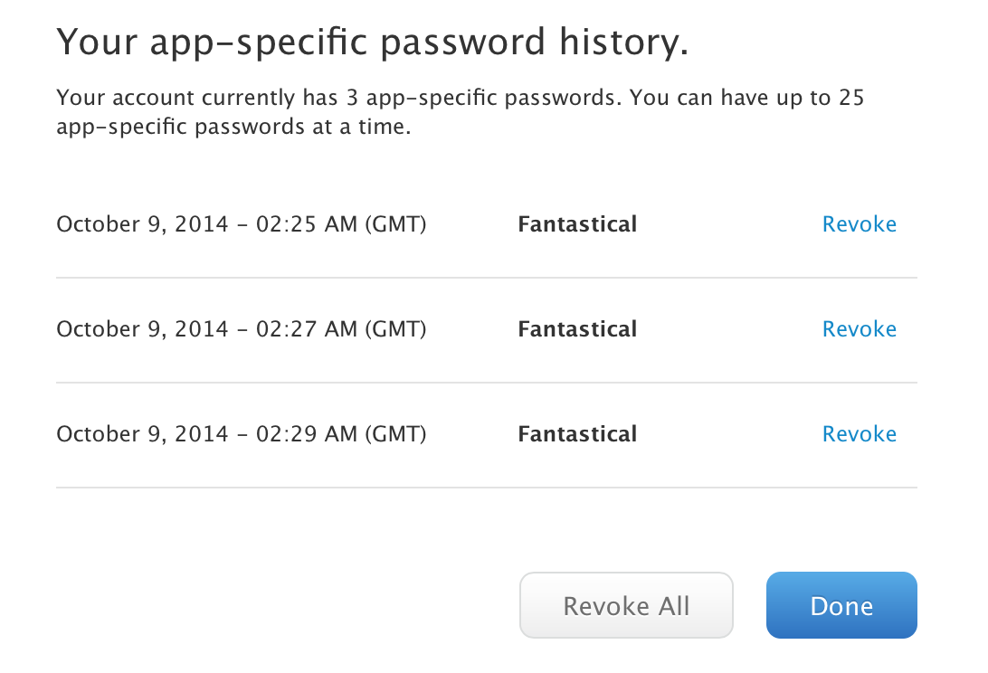 App Specific Password 3