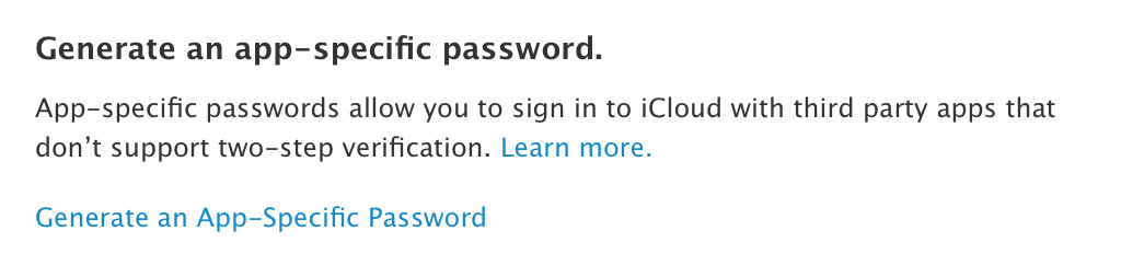 App Specific Password