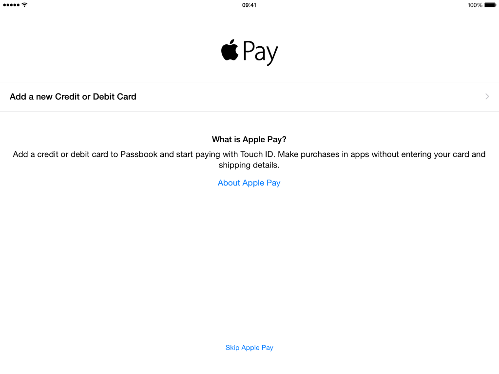 Apple Pay iPad