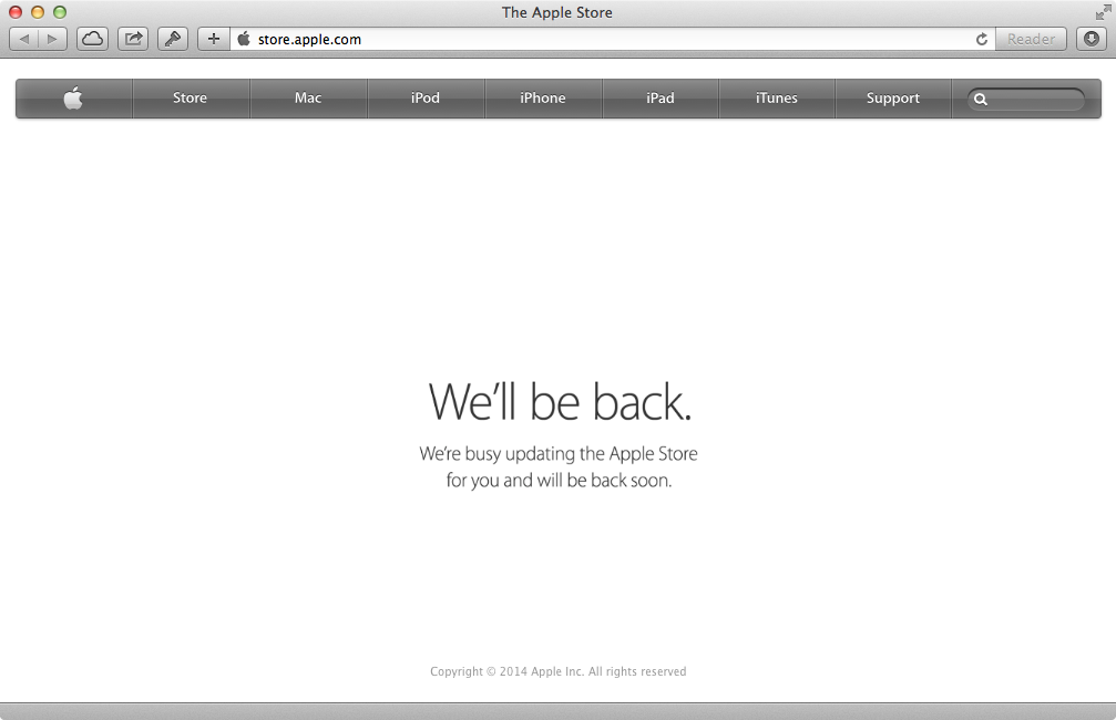 Apple Store down (OCtober 2014)