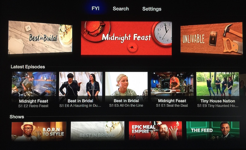 Apple TV (FYI channel)