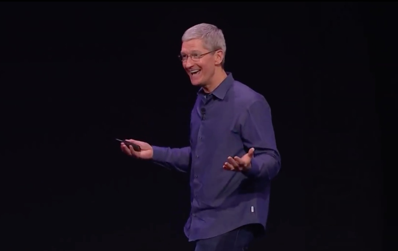Apple event (September 2014, Tim Cook smiling 001)