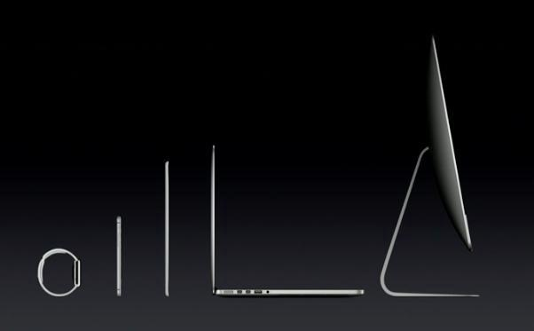 Apple products line up