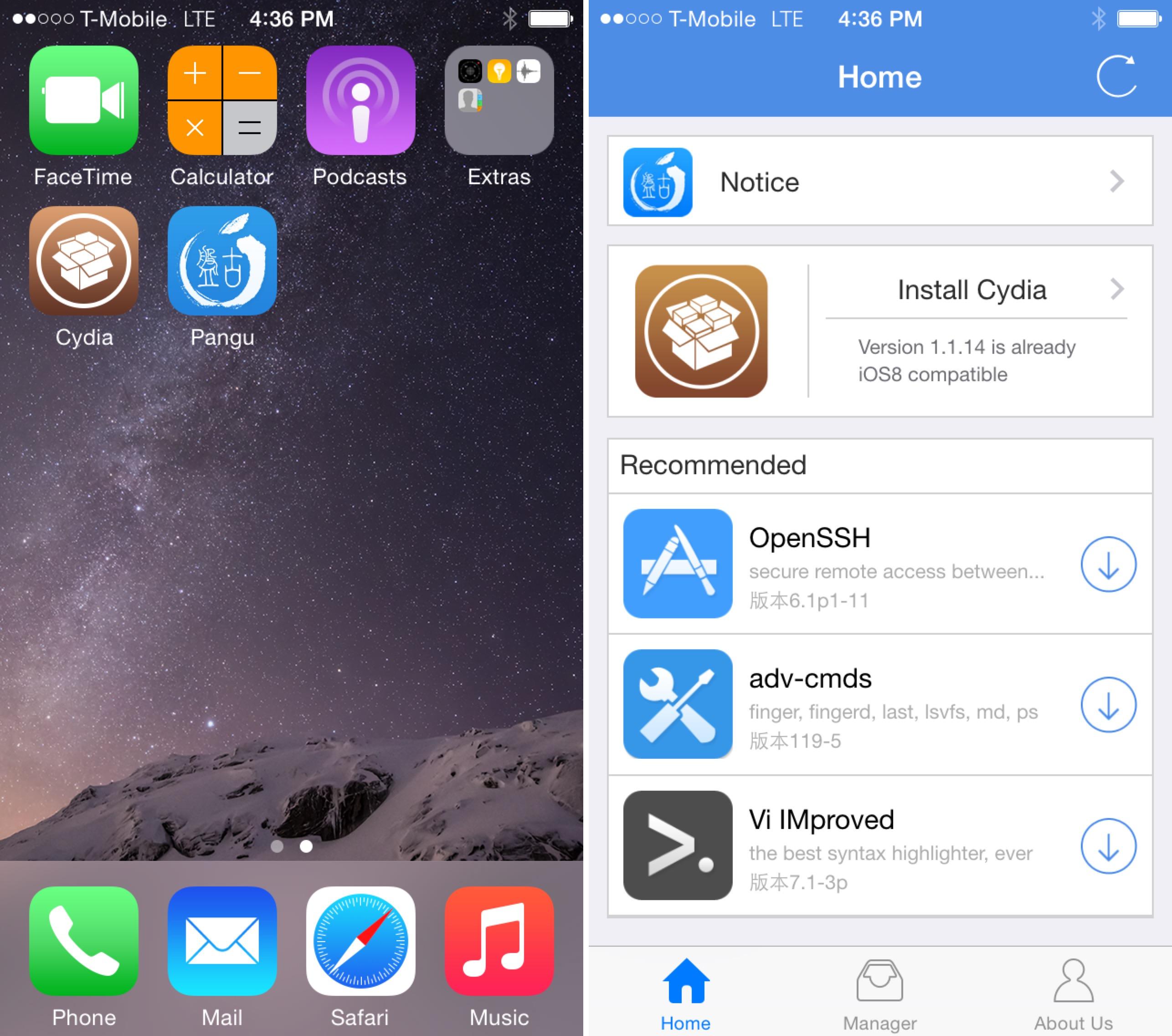 iphone jailbreaksiz cydia