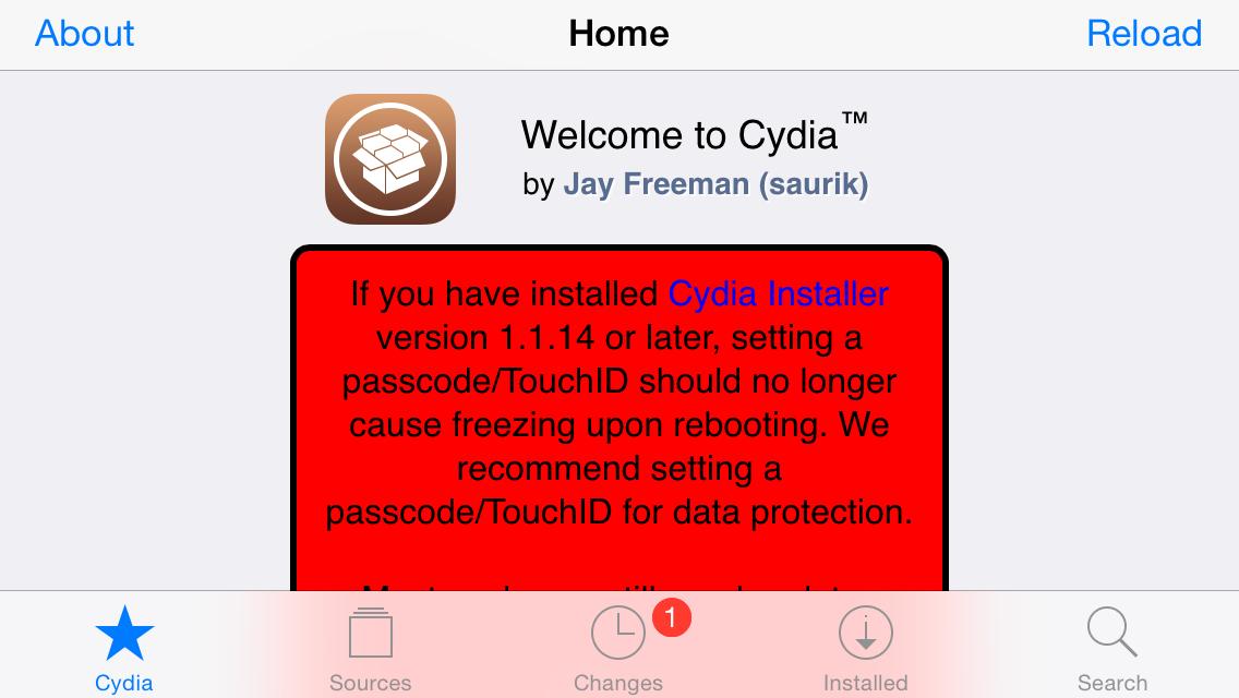 Cydia Landscape iPhone 5s