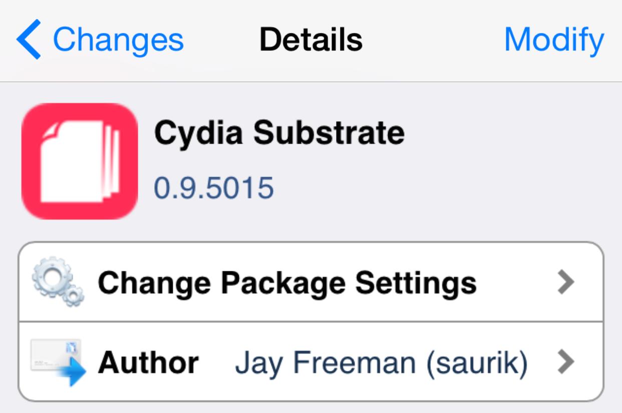 Cydia Substrate 0.9.5015