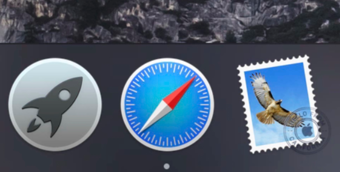 Dark Mode Dock Yosemite