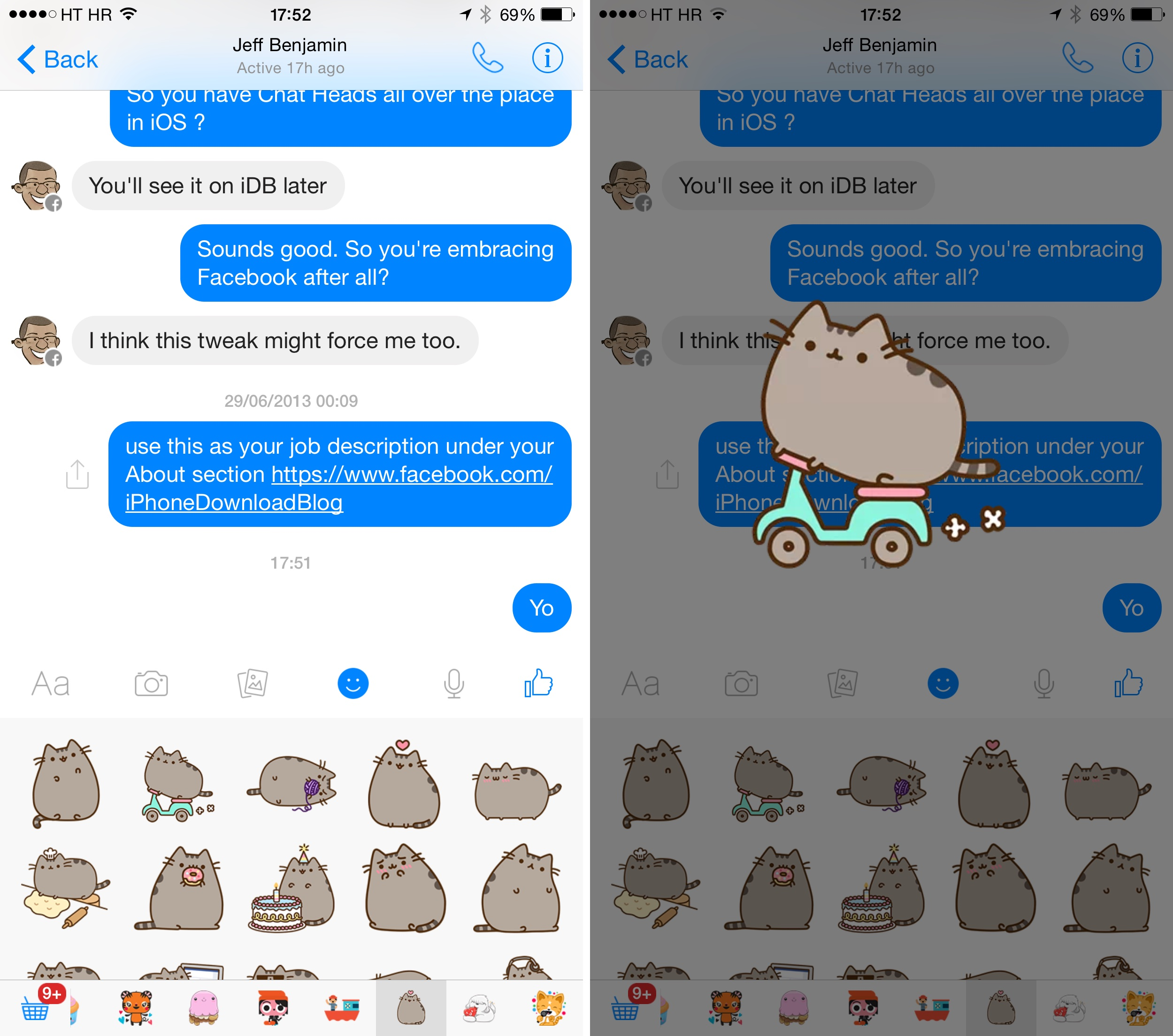 Facebook Messenger 15 for iOS (sticker animations 003)