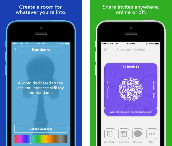 Facebook Rooms 1.0 para iOS (captura de pantalla 002 de iPhone)