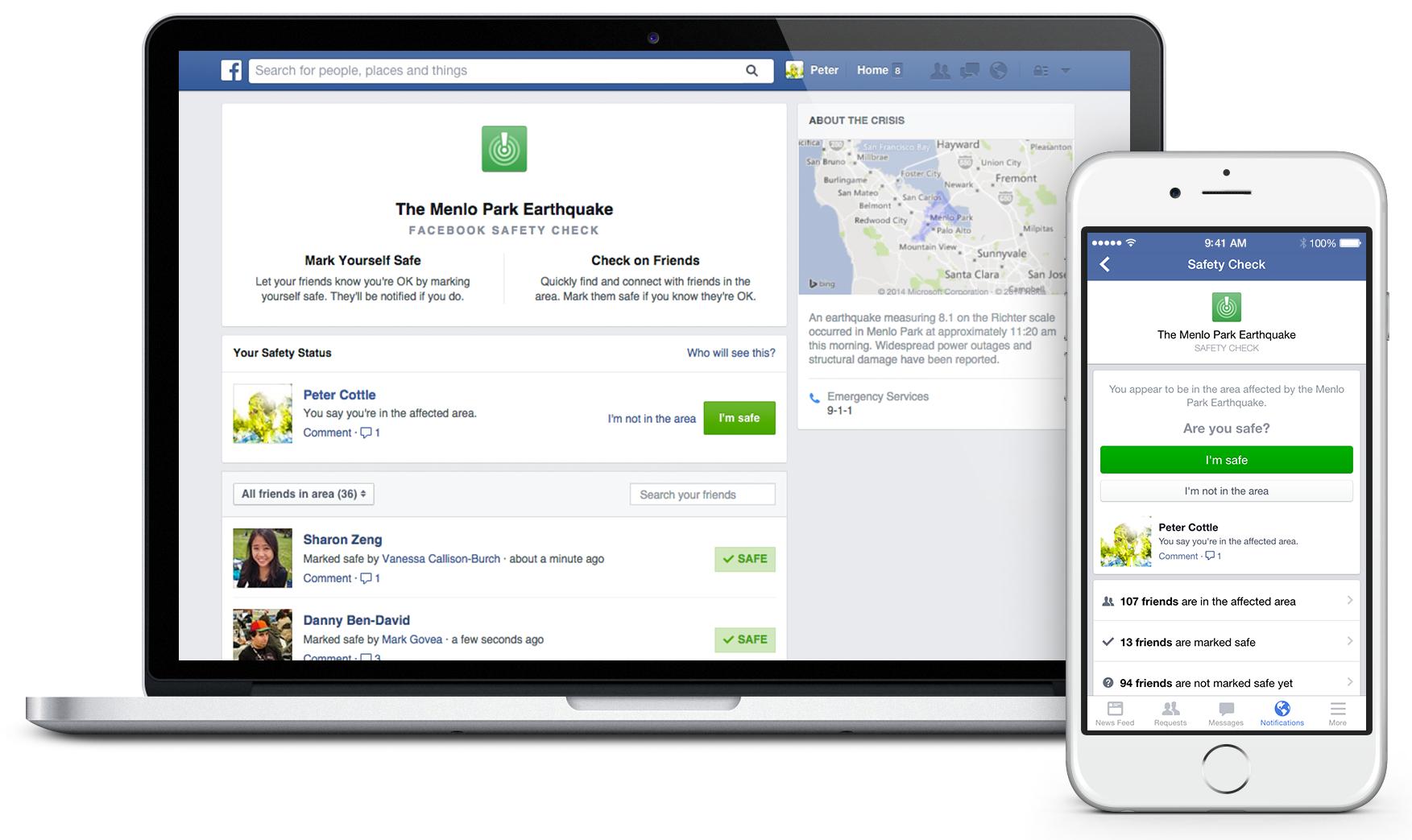 Facebook (Safety Check 001)