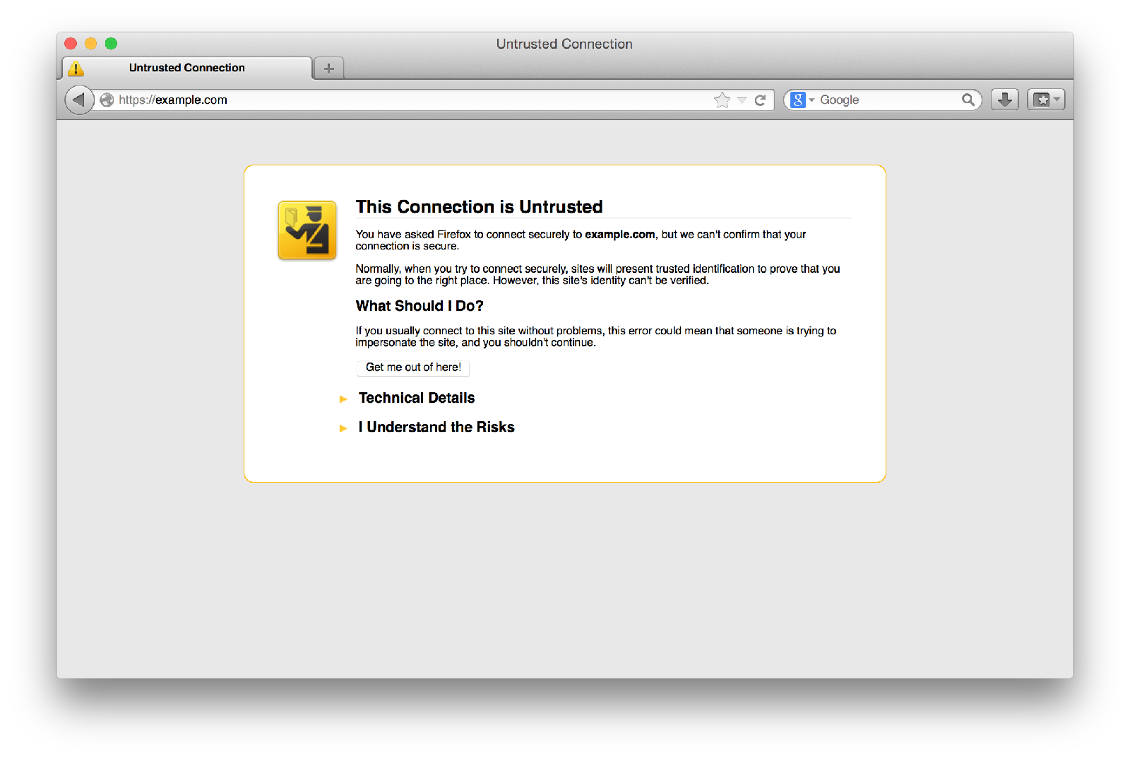 Firefox (iCloud login page untrusted)