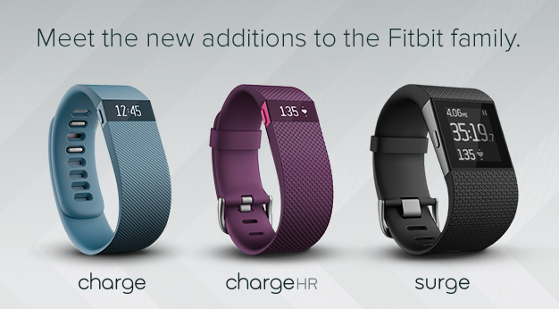 FitBit family (Charge, Charge HR and Surge)