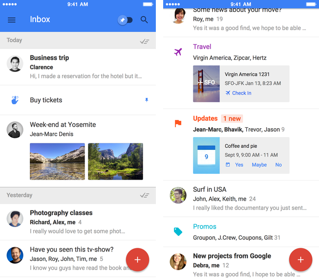 Google Inbox 1.0 for iOS (iPhone screenshot 001)