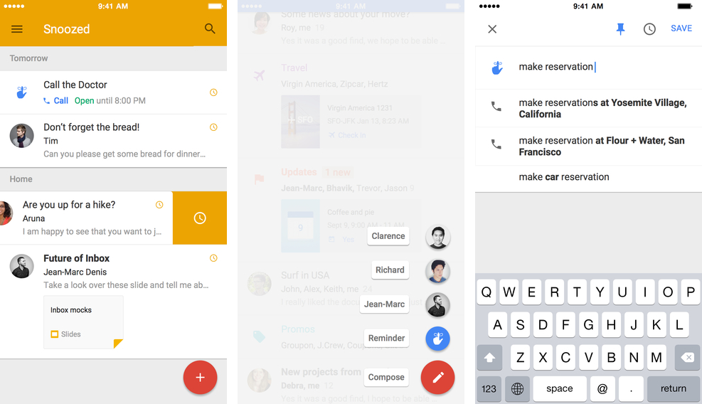 Google Inbox 1.0 for iOS (iPhone screenshot 002)