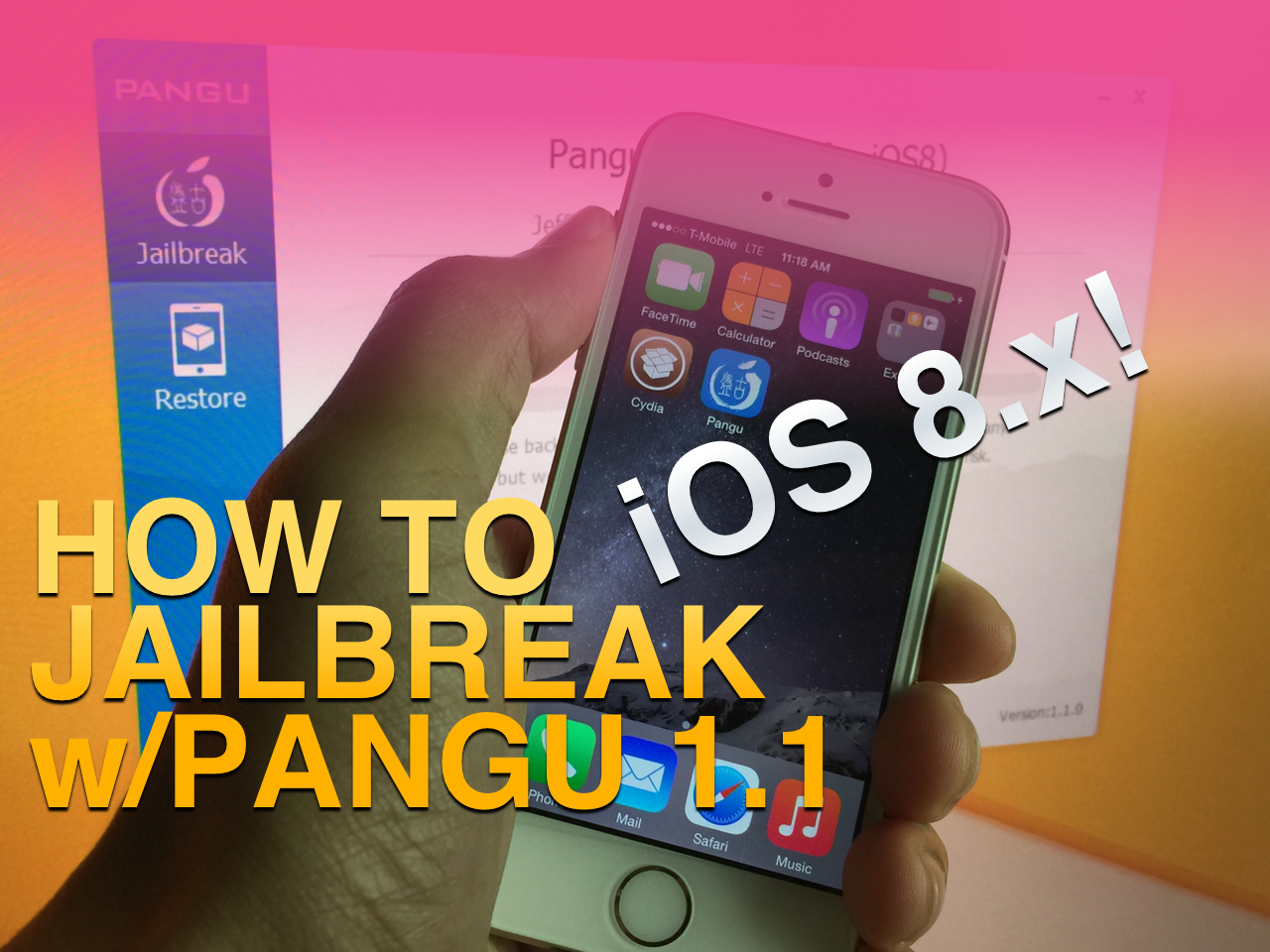 How to jailbreak iOS 8 and install Cydia using Pangu 1.1.0 on Windows