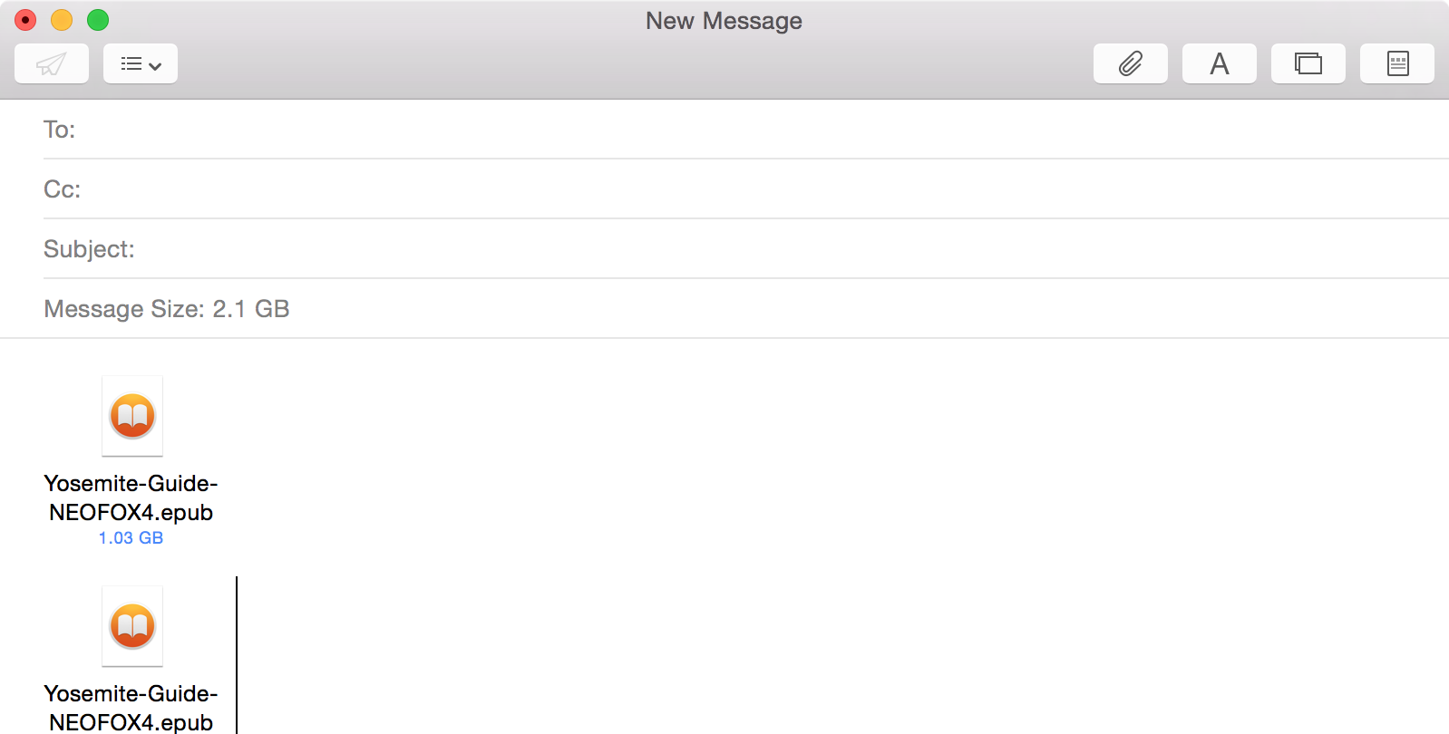 MailDrop OS X Large Attachments