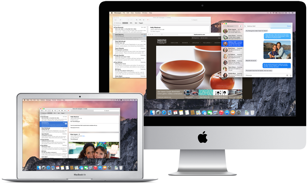 OS X Yosemite (teaser, MacBook Air and iMac)