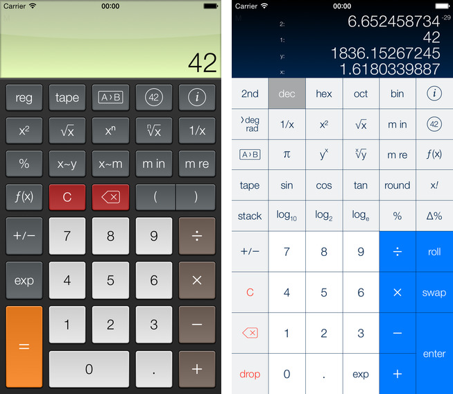 PCalc 3.3.2 for iOS (iPhone screenshot 002)