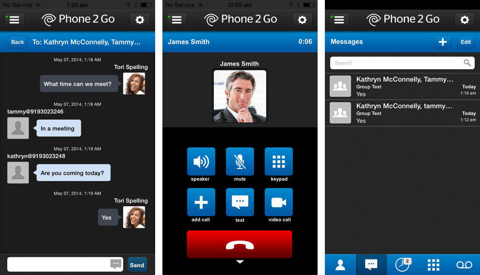 Phone 2 Go 1.0 for iOS (iPhone screenshot 002)