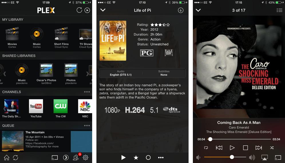 Plex 3.5.2 para iOS (captura de pantalla de iPhone 001)