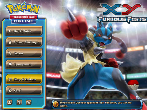 Pokemon TCG Online for iOS (iPad screenshot 001)