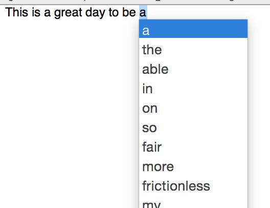Using predictive text in OS X Yosemite