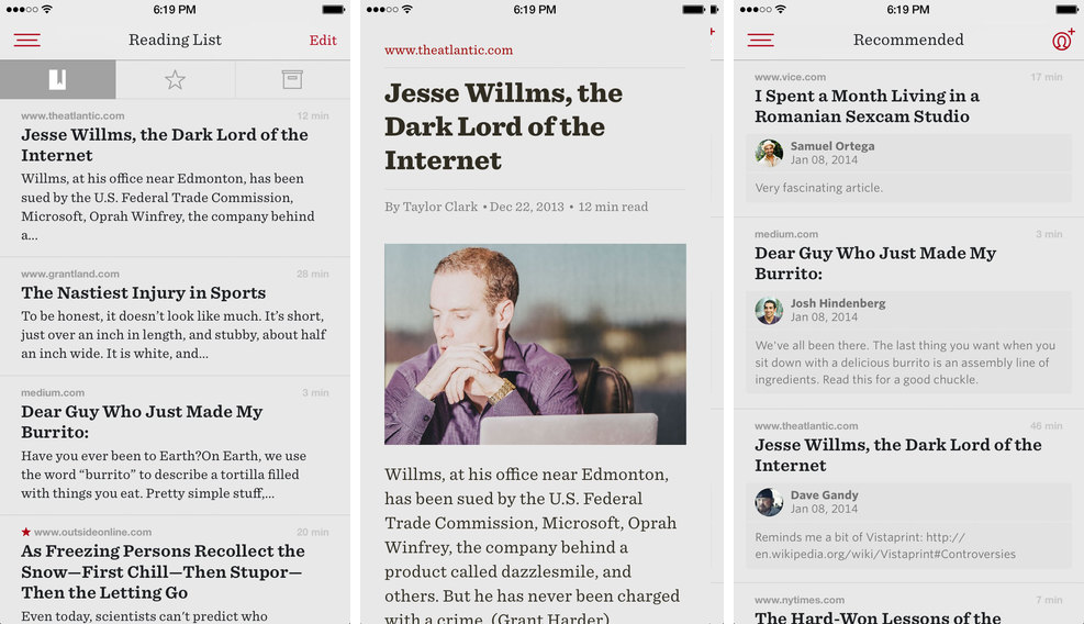 Readability 2.1.1 for iOS (iPhone screenshot 001)