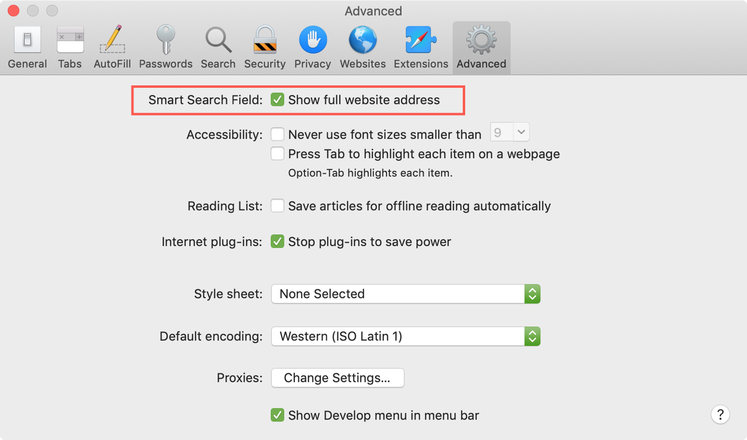 Show Full Website Address in Safari Mac
