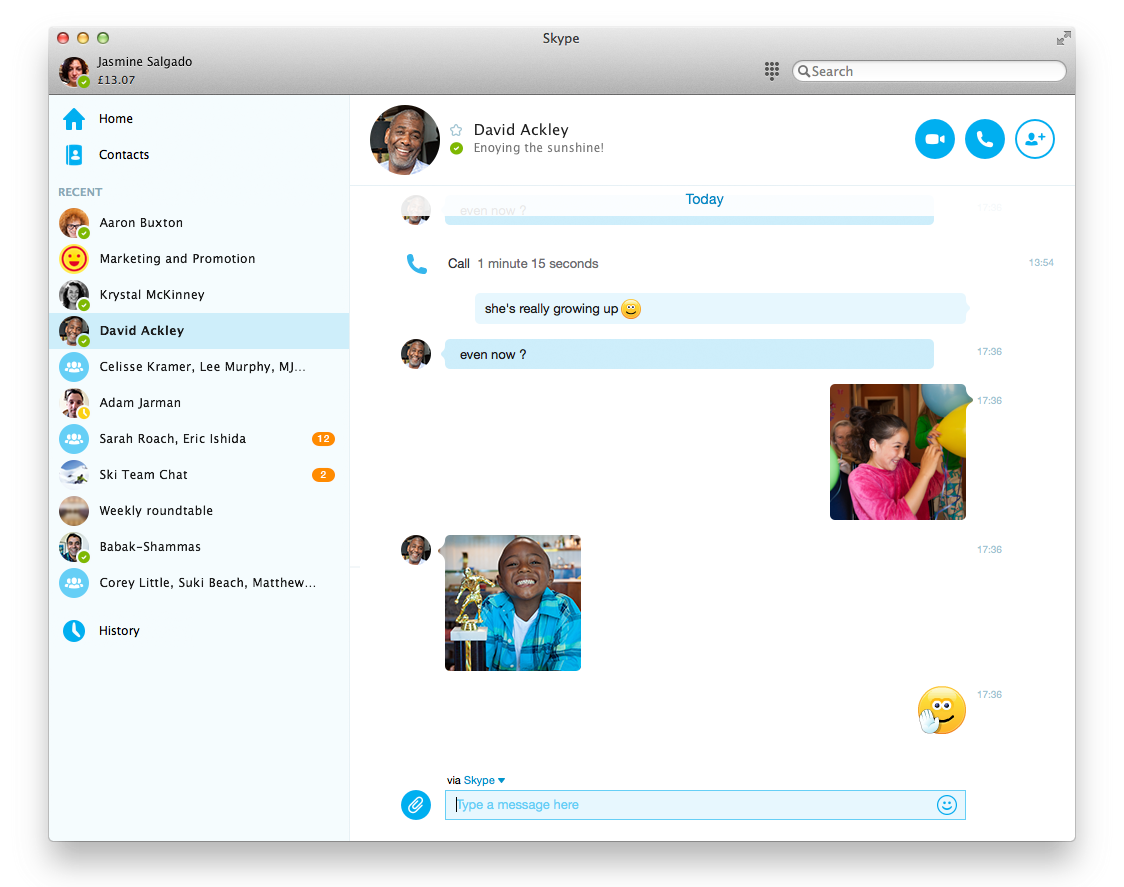 Skype for Mac 7.0 (screenshot 001)