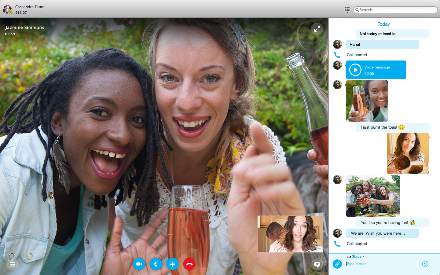 Skype for Mac 7.0 (screenshot 002)