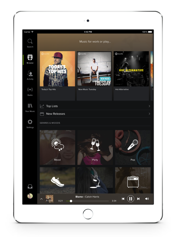 Spotify 1.9 for iOS (iPad screenshot 002)