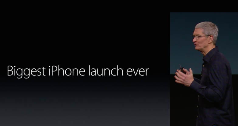 Tim Cook biggest iPhone launch