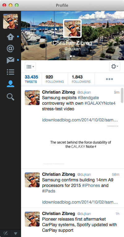 Twitter 3.1 for Mac (screenshot 001)