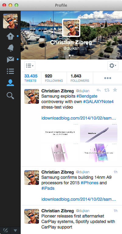 Twitter 3.1 for Mac (screenshot 002)