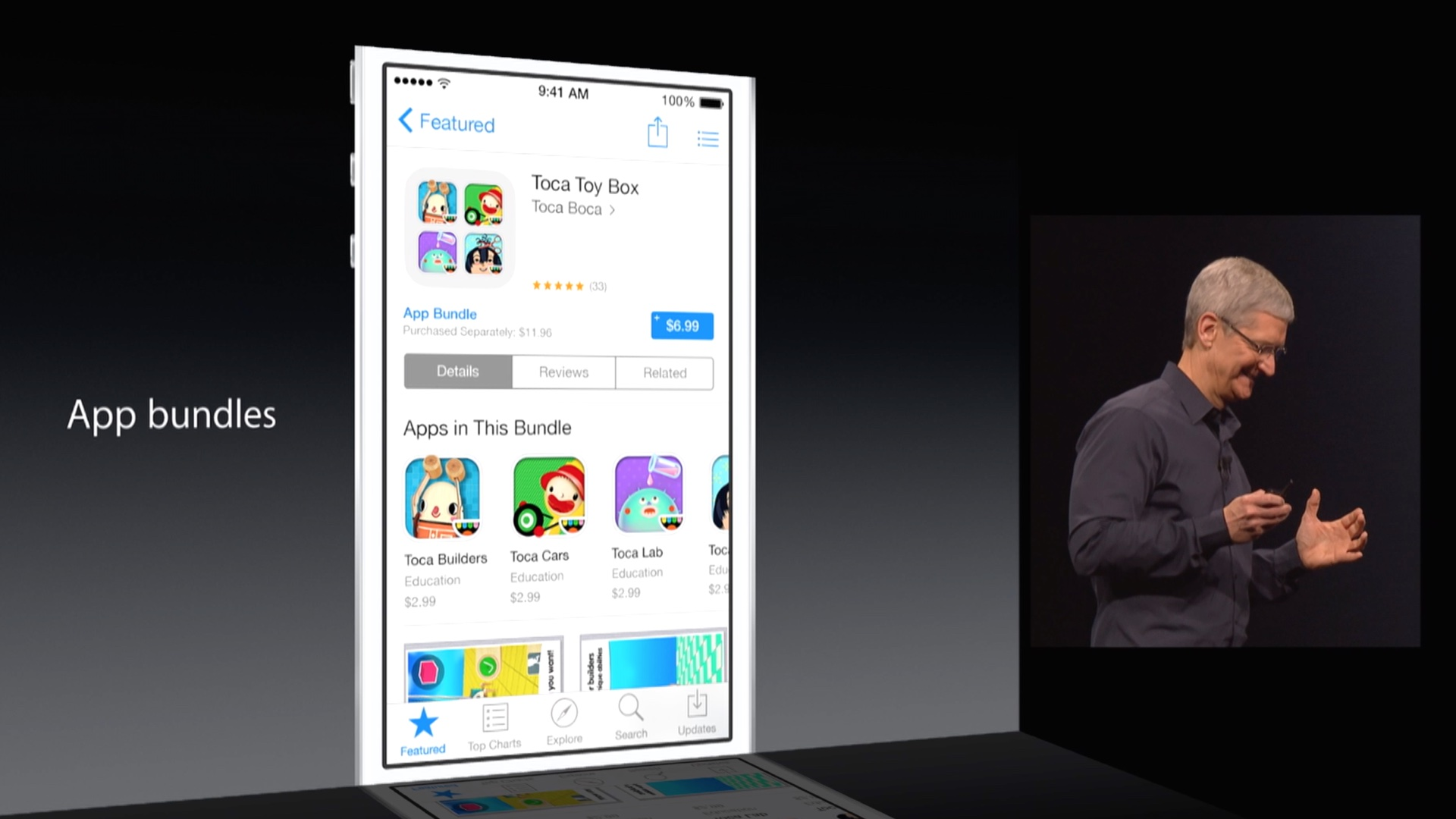 WWDC 2014 (IOS 8, App Bundles slide 001)