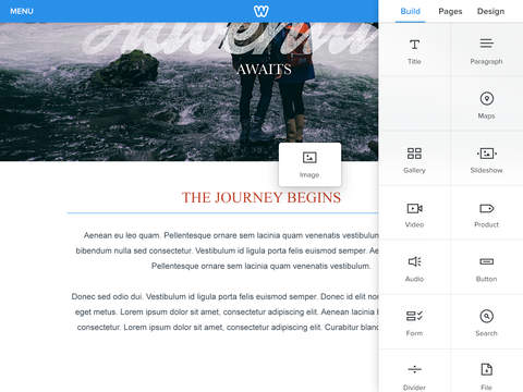 Weebly 3.0 for iOS (iPad screenshot 003)
