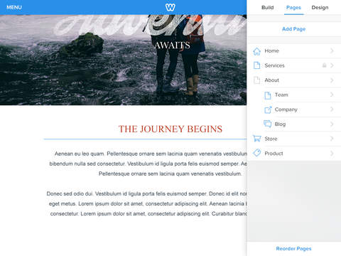 Weebly 3.0 for iOS (iPad screenshot 004)