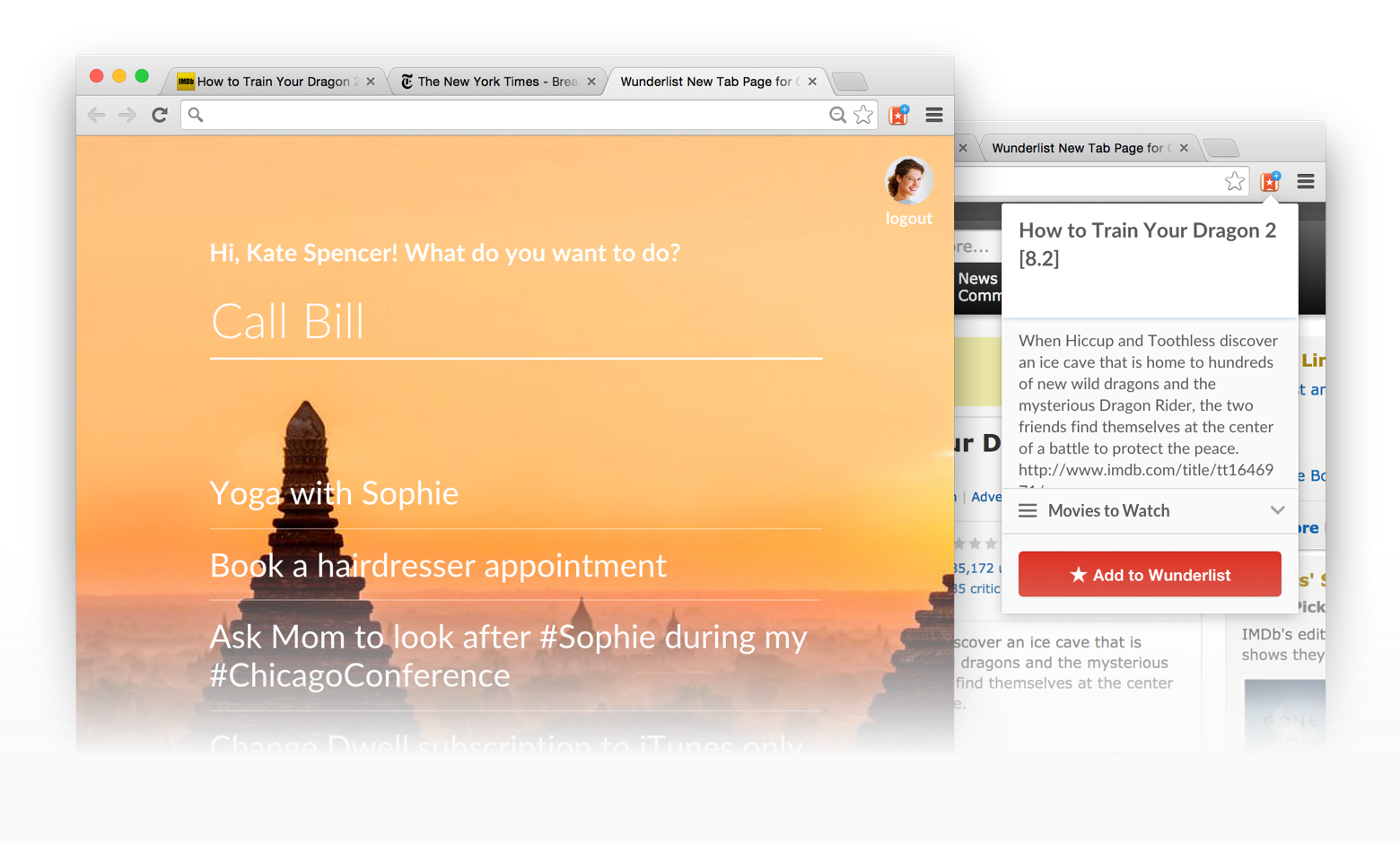 Wunderlist Chrome extension (image 001)