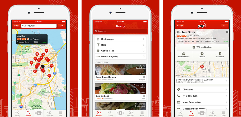 Yelp 8.7 for iOS (iPhone screenshot 001)