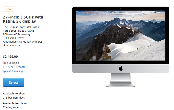 buy iMac with Retina 5K display