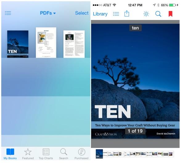 iBooks PDF
