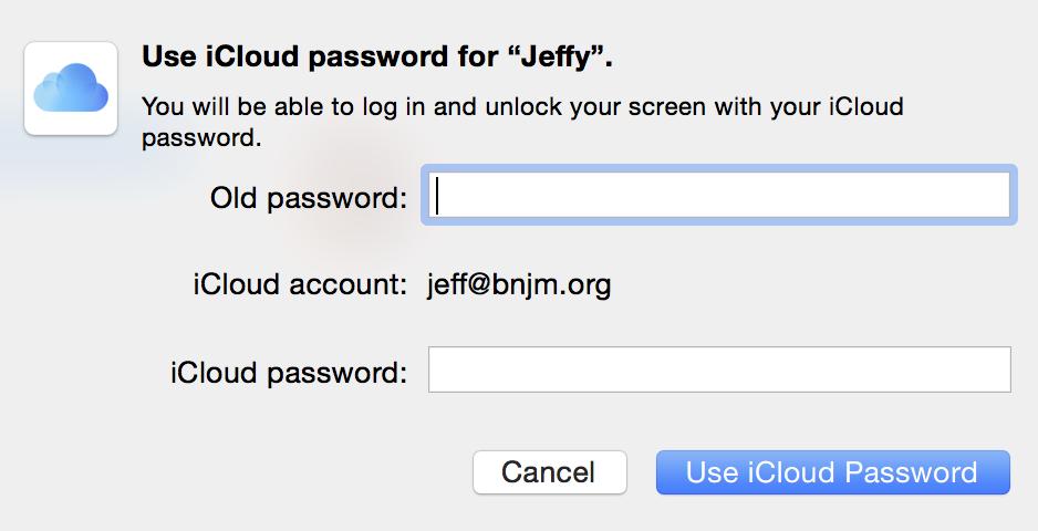 iCloud Password
