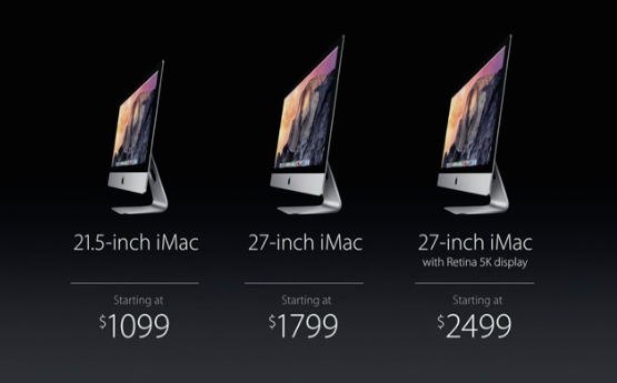iMac line up