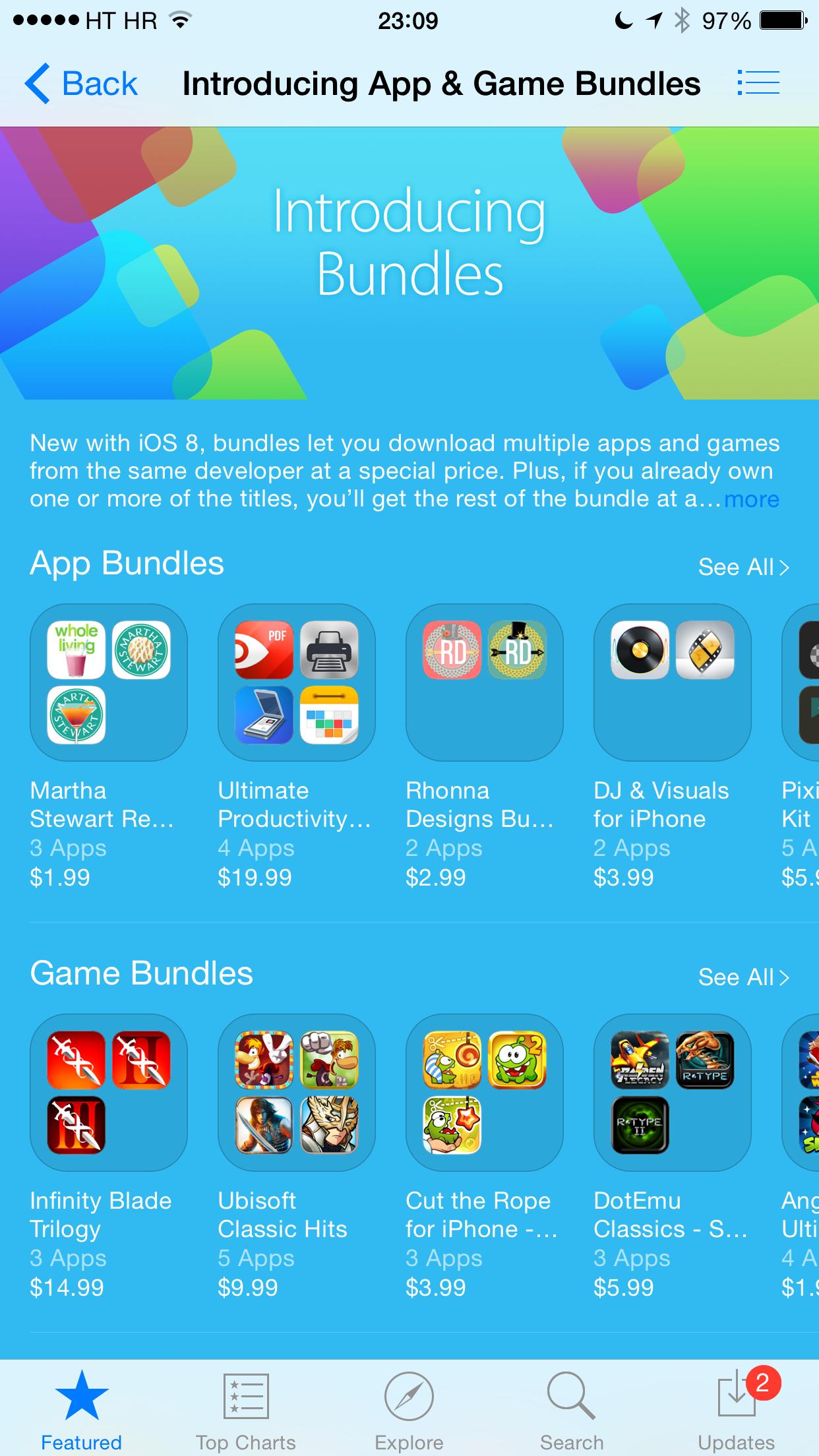 iOS 8 (App Store, App Bundles teaser 001)